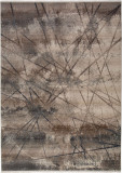 Covor Modern & Geometric Veteris, Taupe, 200x290, Decorino