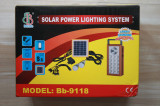 Kit Solar panou 2.5W USB Rulota Camping + Lanterna + 2 becuri led