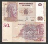 CONGO 50 FRANCI FRANCS 2007 UNC [1] P-97a , necirculata