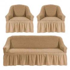 Huse canapea 3 locuri+2 fotolii 311 bumbac elasticizat ,BEJ