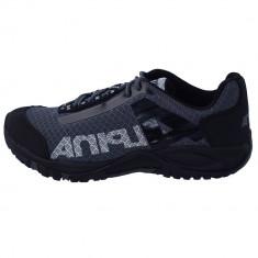 Pantofi tip adidasi de barbati, din textil, Alpina, 620E7K-87-23, negru cu gri
