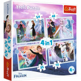Puzzle 4 in 1, Trefl, Magie in padure, Disney Frozen 2 (35, 48, 54 si 70 piese)