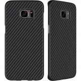 Husa SAMSUNG Galaxy S7 Edge - Fiber (Negru)
