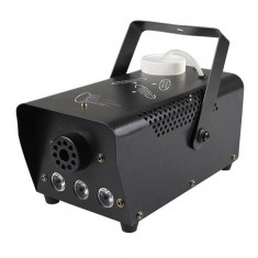 Cumpara ieftin Masina de fum wireless, 600 W, 3 x LED, jocuri de lumini, Negru
