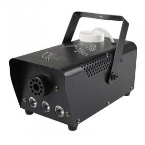 Masina de fum wireless, 600 W, 3 x LED, jocuri de lumini, Negru