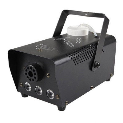 Masina de fum wireless, 600 W, 3 x LED, jocuri de lumini, Negru foto