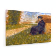 Tablou pe panza (canvas) - Georges Seurat, Massive Figure - Painting - 1882