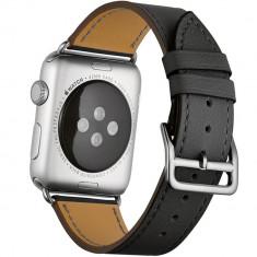 Curea pentru Apple Watch 44mm piele iUni Single Tour Negru