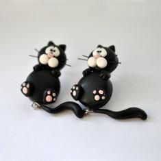 Cercei pisici negre