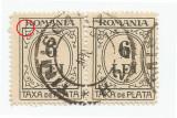 România, LP IV.14d/1926, Taxă de plată, tip. negru, h. albă, eroare 9, oblit.