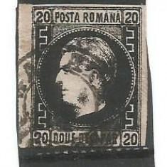 No(02)ROMANIA  1867 Carol I cu favoriţi 20 parale