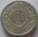Cumpara ieftin Moneda exotica 1 CENT - ANTILELE OLANDEZE (Caraibe), anul 1997 * cod 982 A, America Centrala si de Sud, Aluminiu