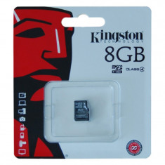 Card micro SD Kingston, capacitate 8 GB foto