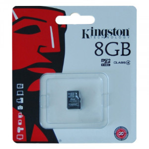 Card micro SD Kingston, capacitate 8 GB