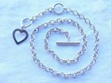 COLIER argint SPLENDID cu INIMIOARA ca ornament cu 2 POZITII superb ELEGANT