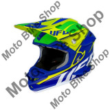 MBS Casca motocross Ufo Interceptor Krypton, fibra de carbon, albastru/galben, M, Cod Produs: HE028M