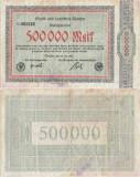 1923 (20 VII), 500.000 mark (Keller 0001b.02) - Germania (Aachen)!