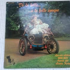 lisette keray de la belle a la folle epoque 1900-1925 disc vinyl muzica slagare