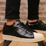 Cumpara ieftin Adidasi dama Adidas Superstar 80's, culoare negru, marimea 38, Piele naturala