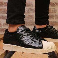 Adidasi dama Adidas Superstar 80's, culoare negru, marimea 38