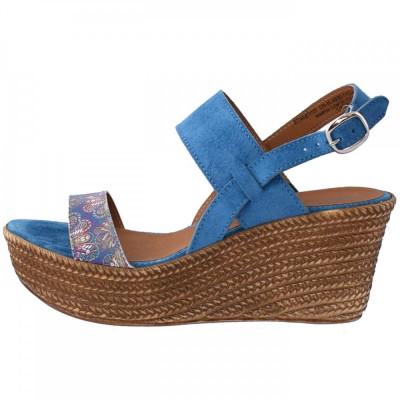 Sandale dama, din piele naturala, marca Tamaris, 28364-7, albastru 39 foto