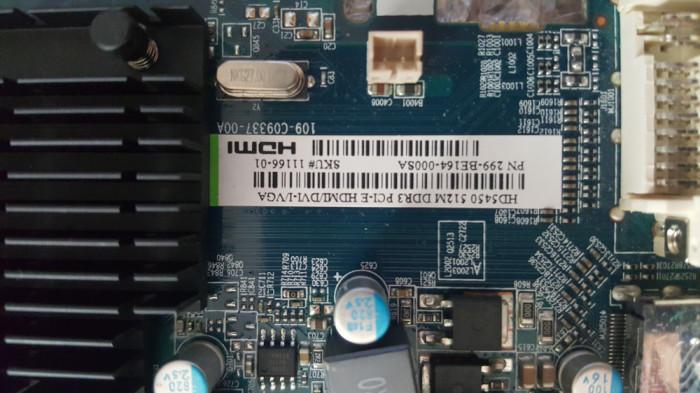 Placa video Sapphire ATI Radeon HD 5450, 512MB, DDR3, 64bit, HDMI, DVI, PCI-E
