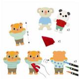 Atelier de desen pentru copii,Animale prietenoase, Djeco Cuties