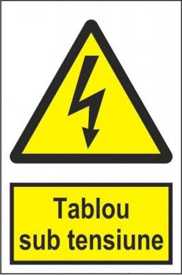 Indicator Tablou sub tensiune - Semn Protectia Muncii foto