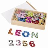 Set litere si cifre magnetice - multicolore, 88 piese, Goki