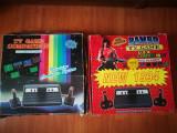 Set 2 jocuri pe tv vechi, la cutie.RAMBO. Consola / Joc pe televizor Mario