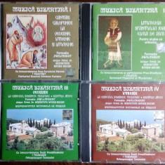 4CD: MUZICA BIZANTINA I - IV (FORMATIA PSALMODIA) [ELECTRECORD 1999-2002]