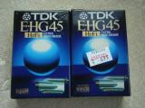 Lot 3 Casete Video TDK Extra si FUJI HG 45 min VHS-C - NOI Sigilate