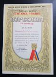 Diploma de onoare 1981 Arges Pitesti Cantarea Romaniei