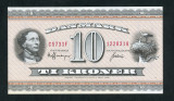 Danemarca 10 kroner 1973 necirculata P44ag