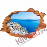 "Sticker ""Wall Crack"" Santorini 2 - 120 x 80 cm"