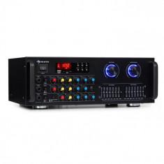 Auna Amp-Pro1 BT, amplificator PA, RMS 2 x 50 W, BT, USB, SD, egalizator cu 2 canale cu 7 benzi
