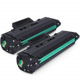 Set 2 cartuse toner compatibile HP 106A, W1106A, Negru , chip inclus