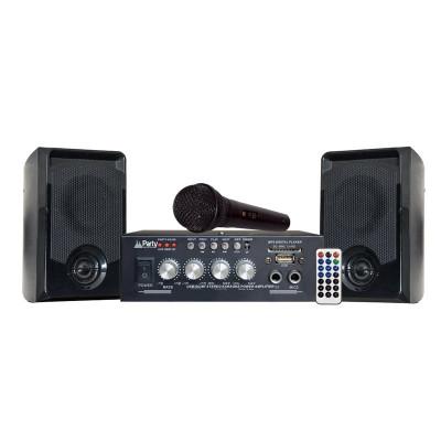 Set Karaoke Party, amplificator, microfon, Bluetooth, 2 boxe foto