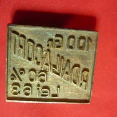 Sigiliu bronz interbelic ,dim.= 4x3,5x0,8cm -100g-P.DallAcor 68% ,lei63