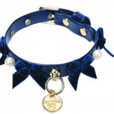 Zgarda decor fundite+perle - Nana - F1208 (Culoare: Albastru)