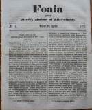 Ziarul Foaia pentru minte , inima si literatura , nr. 15 , 1862 , Samuel Klein