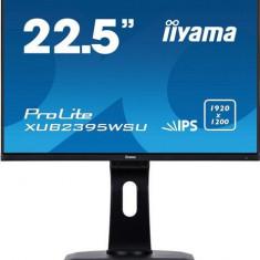 Monitor IPS LED iiyama 22.5inch XUB2395WSU-B1, 1920 x 1200, VGA, HDMI, DisplayPort, USB 2.0, Boxe, Pivot (Negru)