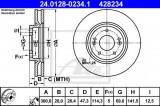 Disc frana HYUNDAI i30 (FD) (2007 - 2011) ATE 24.0128-0234.1