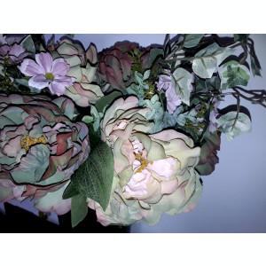 Buchet flori artificiale - Ranunculus mix 6 fire Antique  , înălțime 45 cm