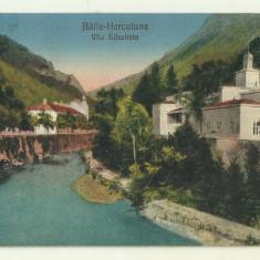 cp Baile Herculane : Vila Elisabeta - 1928, circulata, timbre