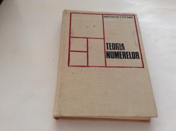 TEORIA NUMERELOR - Constantin P. Popovici -P1