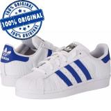 Pantofi sport Adidas Originals Superstar pentru femei - adidasi originali, 37 1/3, Alb, Piele naturala