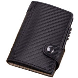 Portofel unisex, port card iUni P4, RFID, Compartiment 9 carduri, Print carbon