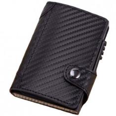 Portofel RFID iUni P4, 10 carduri, Print carbon