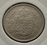 50 Lei 1938 Nichel, Romania a UNC